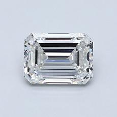 1.00 Carat Esmeralda Diamond Muy buena F VVS1