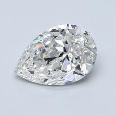 1.00-Carat Pear Diamond Very Good F SI1