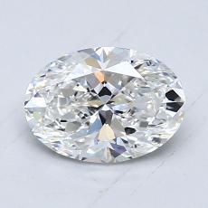 1.00 Carat 椭圆形 Diamond 非常好 E VS1