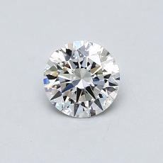 0.42-Carat Round Diamond Ideal F VS1