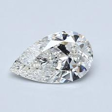 0.71-Carat Pear Diamond Very Good H IF