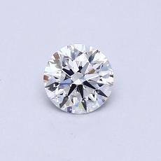 0.40 Carat 圓形 Diamond 理想 E VS2
