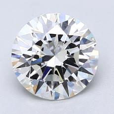 2.03-Carat Round Diamond Ideal G VS1