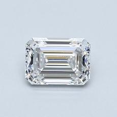0.71 Carat Esmeralda Diamond Muy buena D VVS1