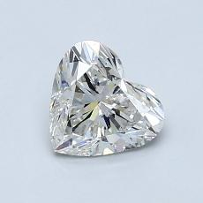 0,90-Carat Heart Diamond Very Good H SI1