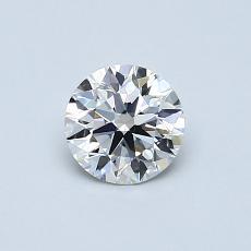 0,54 Carat Rond Diamond Idéale F VVS1