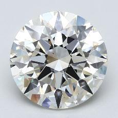 3.22 Carat 圓形 Diamond 理想 J VS1