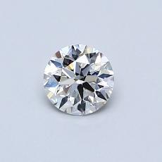 0.40-Carat Round Diamond Ideal D IF