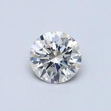 0.50-Carat Round Diamond Ideal I SI2