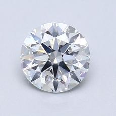 1.05-Carat Round Diamond Ideal F SI1