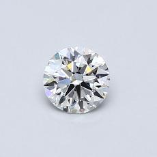 0.40 Carat Redondo Diamond Ideal D VVS2