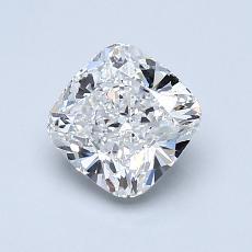 1.05-Carat Cushion Diamond Very Good E VVS2