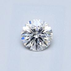 0.42-Carat Round Diamond Ideal E SI1
