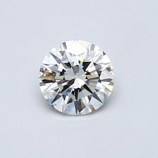 0,50-Carat Round Diamond Ideal G VS2