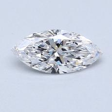0,51-Carat Marquise Diamond Very Good D IF