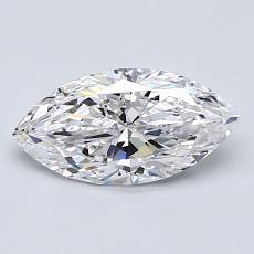 0,90-Carat Marquise Diamond Very Good D VS2