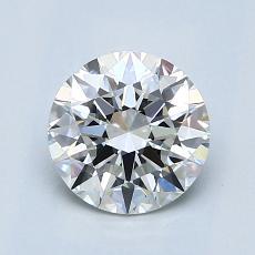 1.25-Carat Round Diamond Ideal G VVS2
