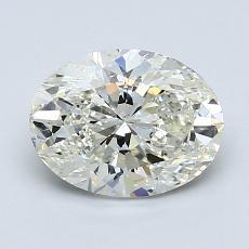 1,52 Carat Ovale Diamond Très bonne K SI2