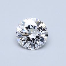 0.51 Carat 圓形 Diamond 理想 D VVS1