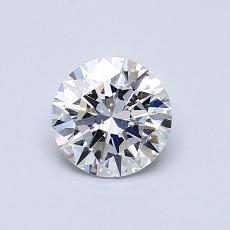 0.70 Carat 圆形 Diamond 理想 E SI1