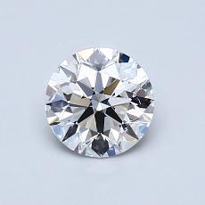 0.75 Carat 圓形 Diamond 理想 E VS1