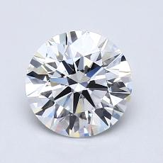 1.20-Carat Round Diamond Ideal E VVS2