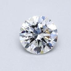 0.60 Carat 圆形 Diamond 理想 D IF