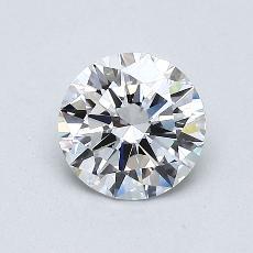 0.75 Carat 圓形 Diamond 理想 D VS2