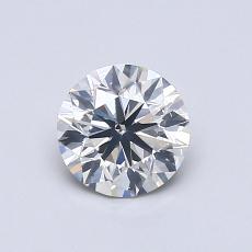 0.72 Carat Redondo Diamond Muy buena K SI2