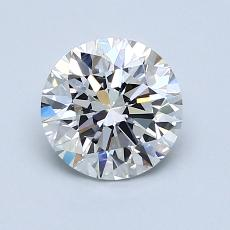 1.21-Carat Round Diamond Ideal H VVS2