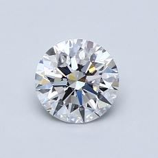 0.75 Carat 圓形 Diamond 理想 D VVS1