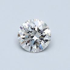 0.53 Carat 圓形 Diamond 理想 G VVS2