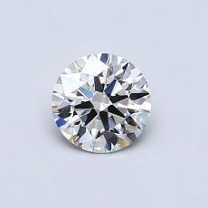 0.53 Carat 圆形 Diamond 理想 G VVS2