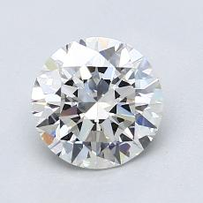 1.30-Carat Round Diamond Ideal F VVS2