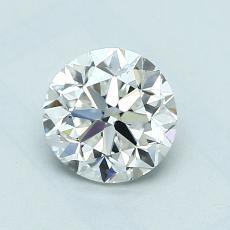1.00 Carat 圓形 Diamond 良好 E VVS2