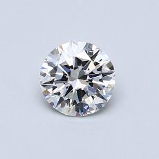 0.50 Carat 圆形 Diamond 理想 E VS2