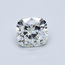 推荐宝石 1:0.84 克拉垫形钻石
