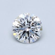 0.76-Carat Round Diamond Ideal E VVS2
