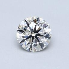 0.70-Carat Round Diamond Good F VS2
