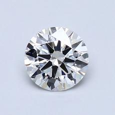0,81 Carat Rond Diamond Idéale G IF