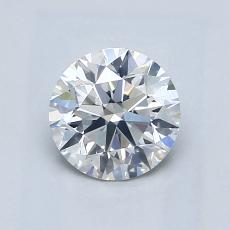 0.90-Carat Round Diamond Ideal G SI1
