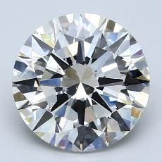 3,02-Carat Round Diamond Ideal I VS1