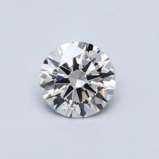 0,50 Carat Rond Diamond Idéale I VS2