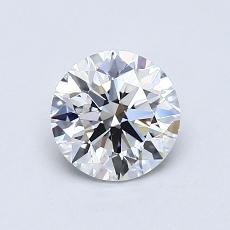0.80-Carat Round Diamond Ideal E VS1
