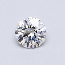 0.51-Carat Round Diamond Ideal G VVS1