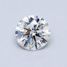 0.70-Carat Round Diamond Ideal E IF