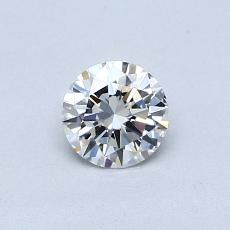 0,40-Carat Round Diamond Ideal D VVS1
