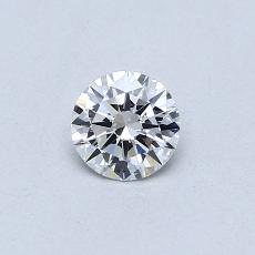 0.30-Carat Round Diamond Ideal D IF