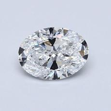 0,70-Carat Oval Diamond Very Good D IF
