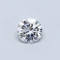 0.30 Carat 圓形 Diamond 理想 D VVS2